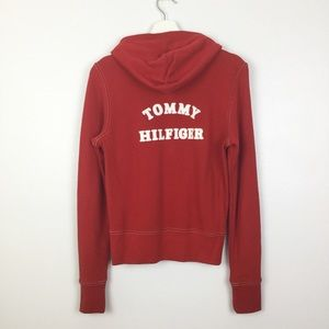 Tommy Hilfiger 2005 Red Zip Front Hoodie Small